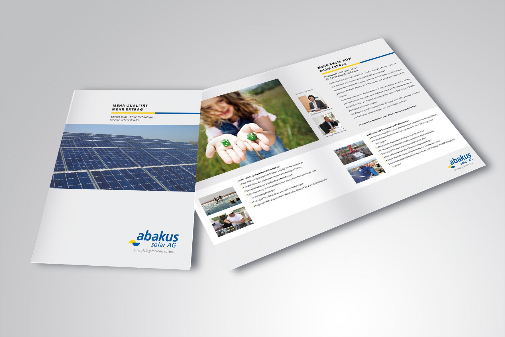 Kunde: abakus solar AG · Produkt: Engineering Broschüre