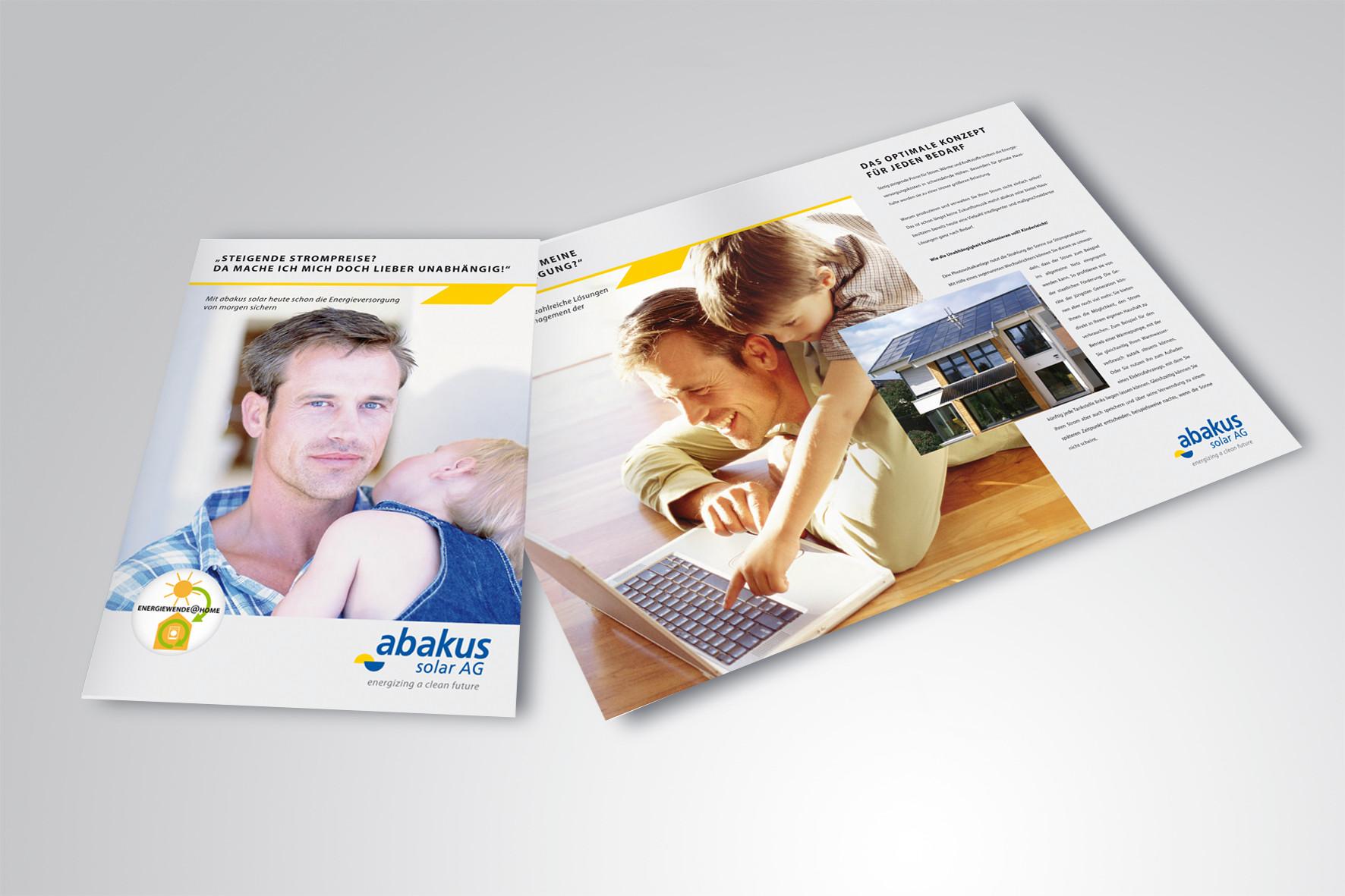 Kunde: abakus solar AG · Produkt: Endkunden Broschüre