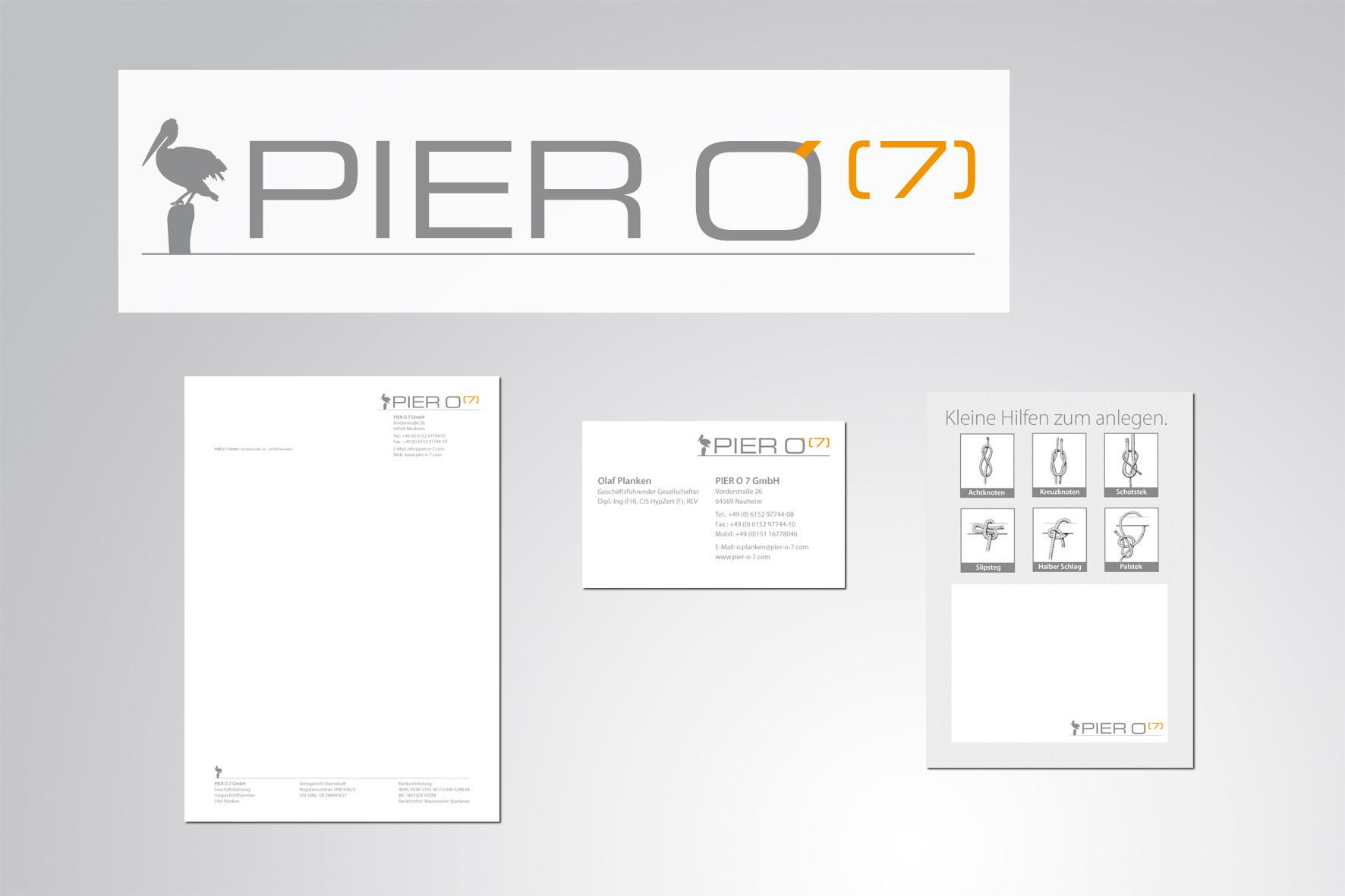 Kunde: PierO7, Logoentwicklung und Corporate Design