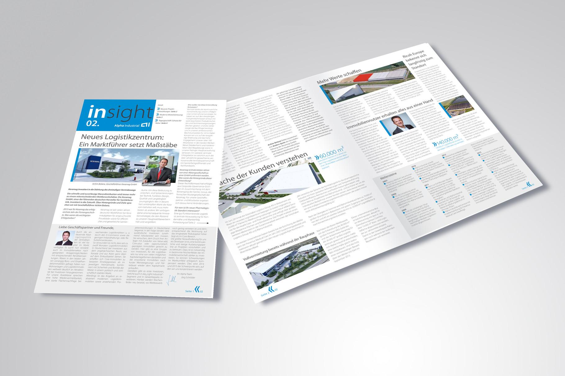 Kunde: Alpha Industrial · Produkt: Newsletter