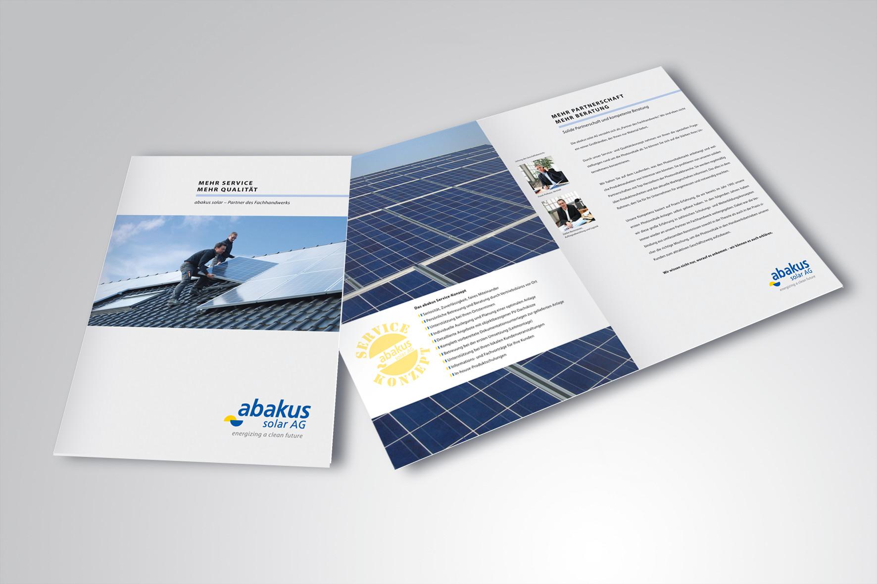 Kunde: abakus solar AG · Produkt: Händler Broschüre