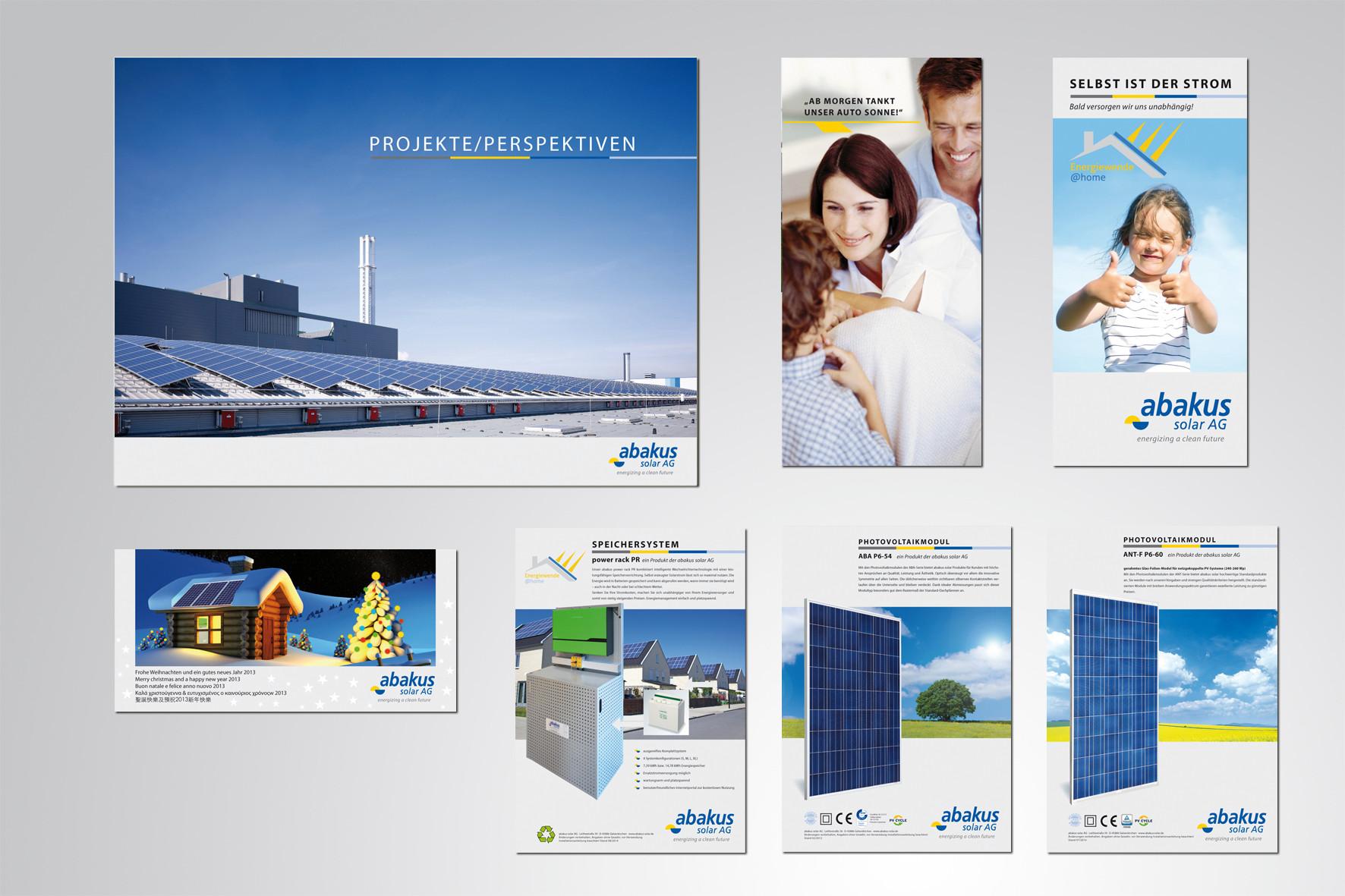 Kunde: abakus solar AG · Produkt: Flyer, Datenblätter ...