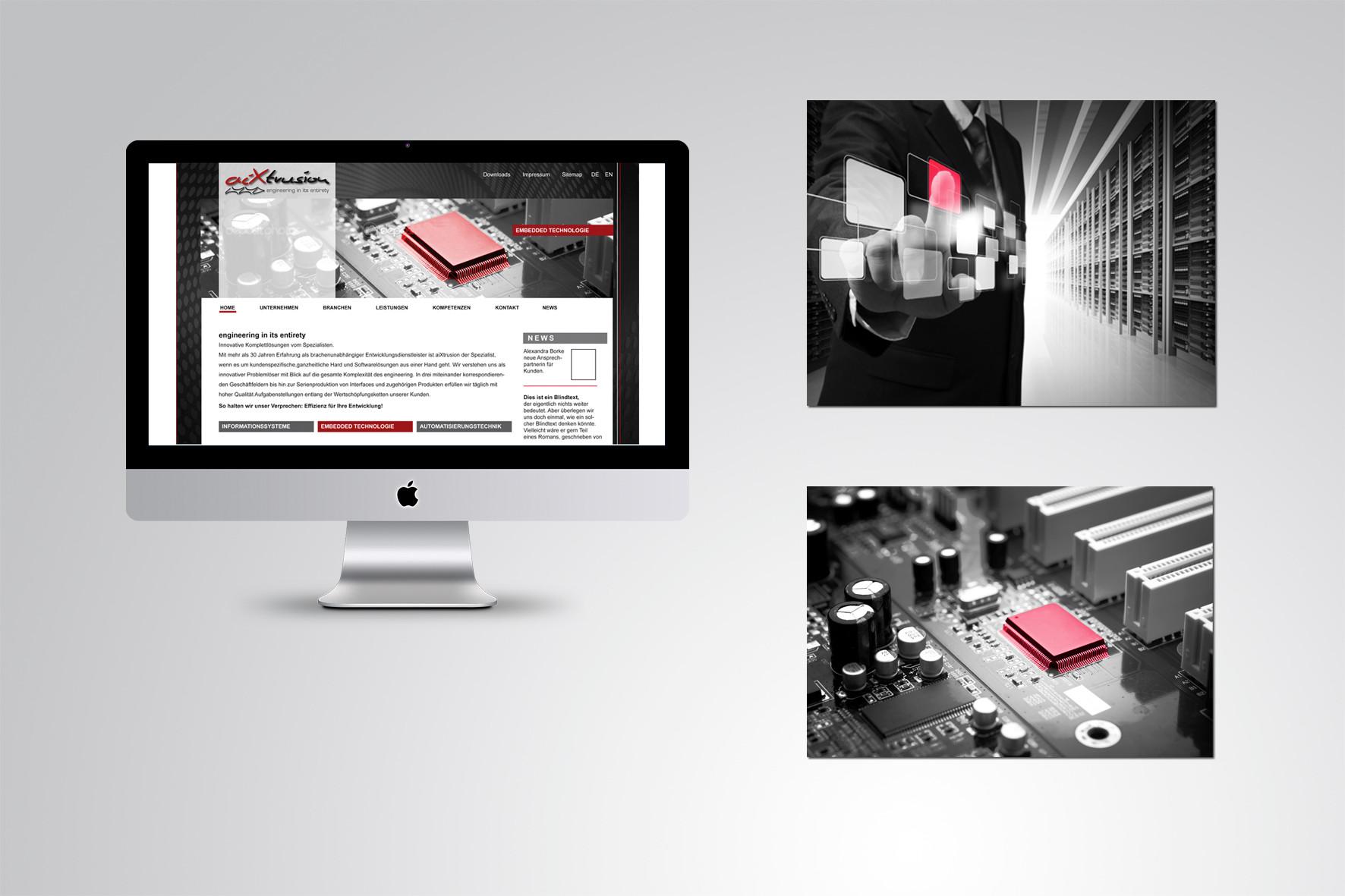 Kunde: aixtrusion · Produkt: Internetauftritt und neue Bildsprache