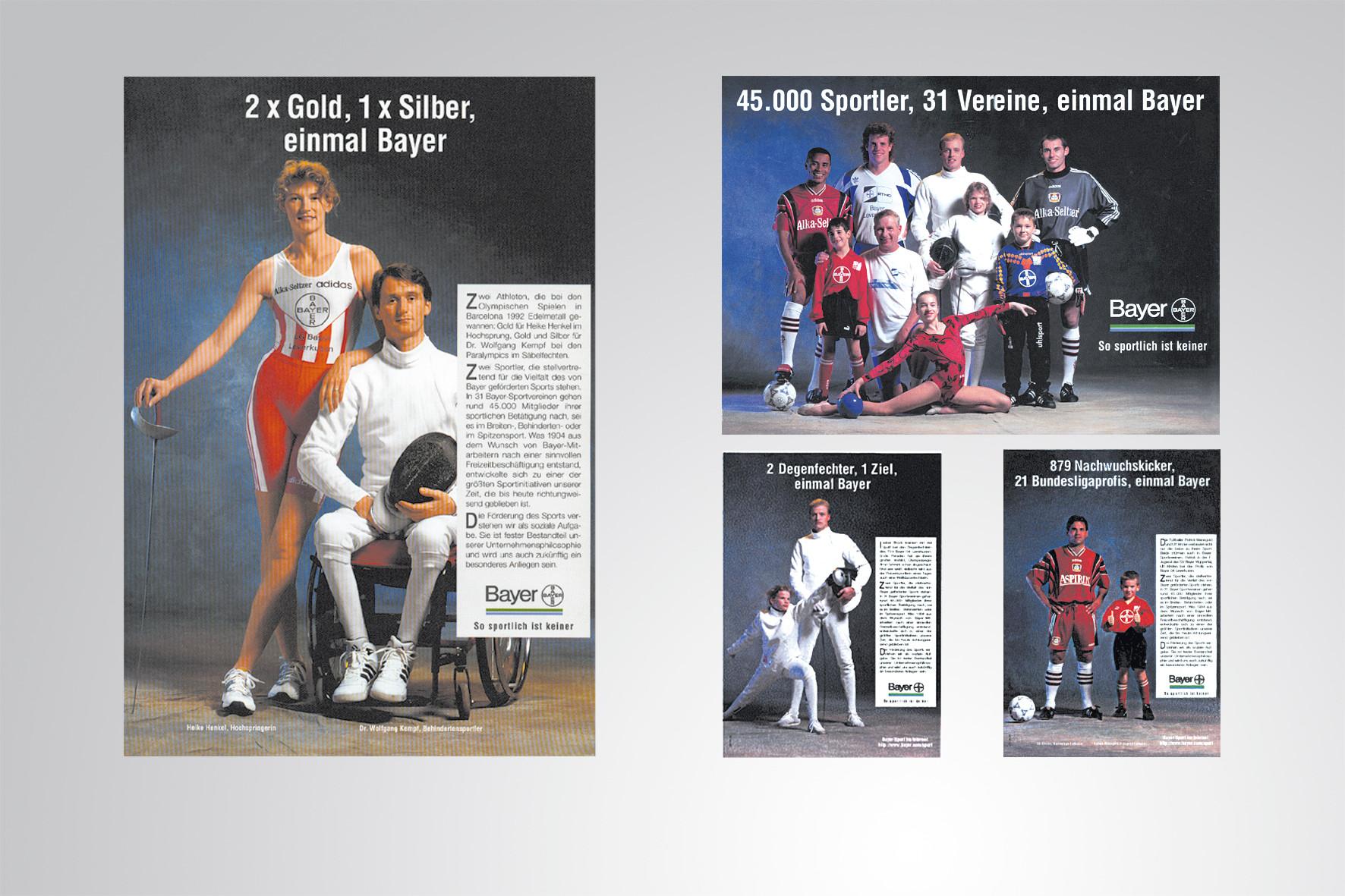Kunde: Bayer · Produkt: Imagekampagne für Bayer Sport