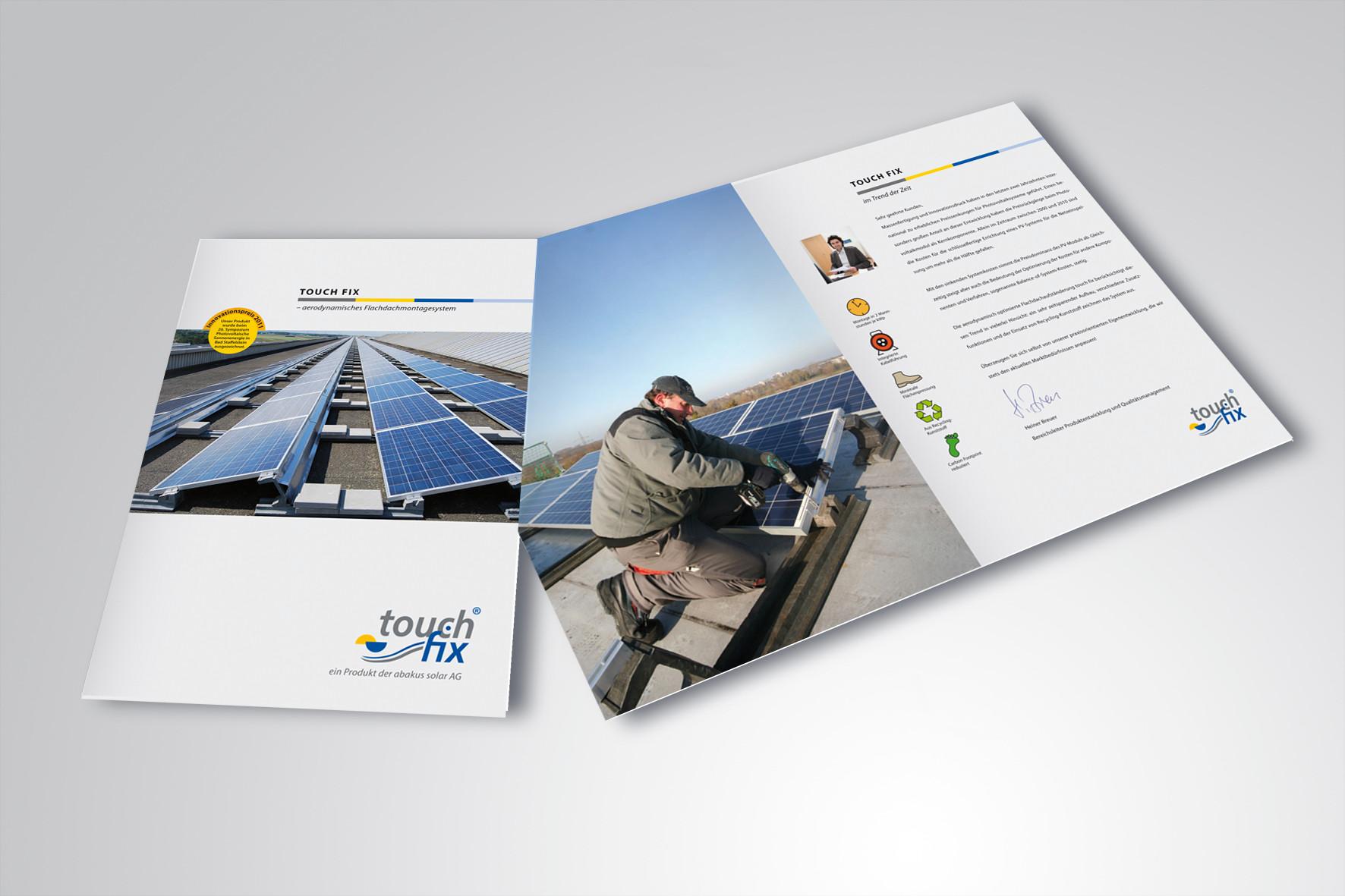 Kunde: abakus solar AG · Produkt: Broschüre Touch fix