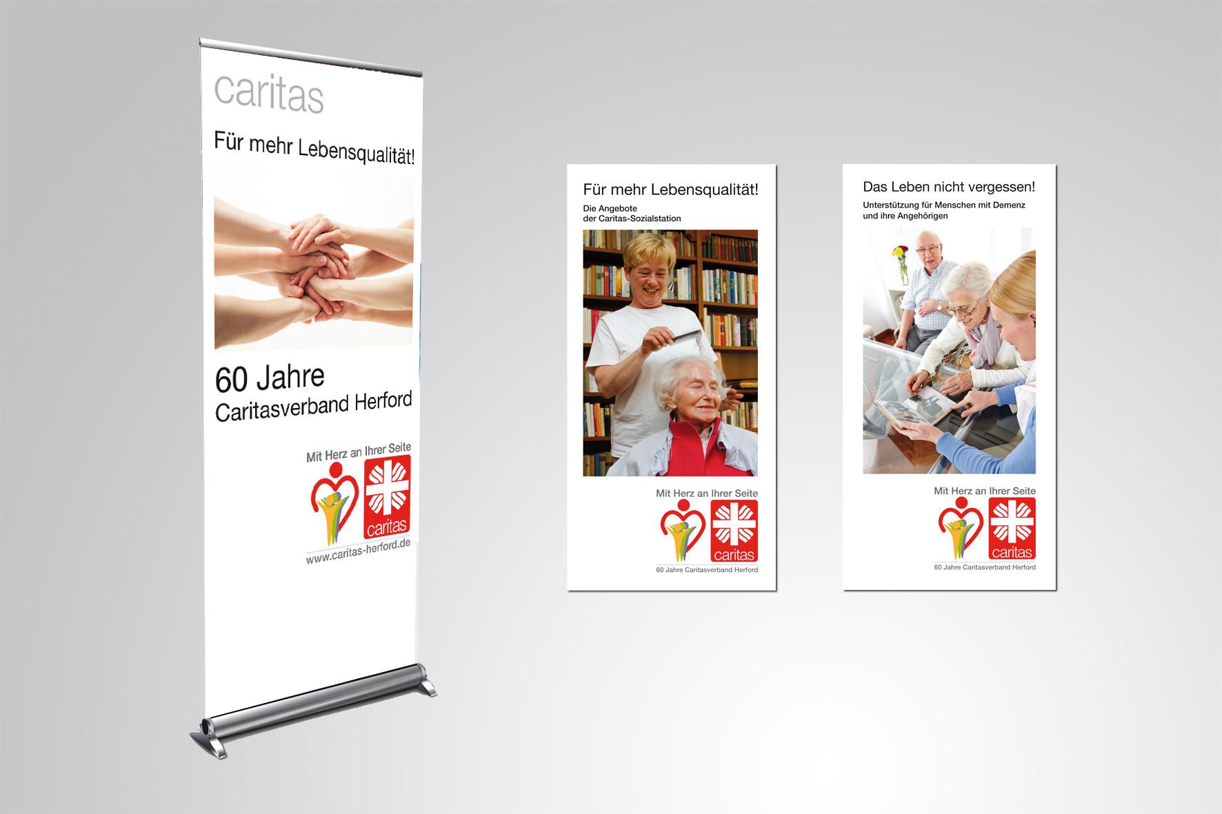Kunde: Caritasverband Herford · Produkt: Verschiedene Kommunikationsmaßnahmen