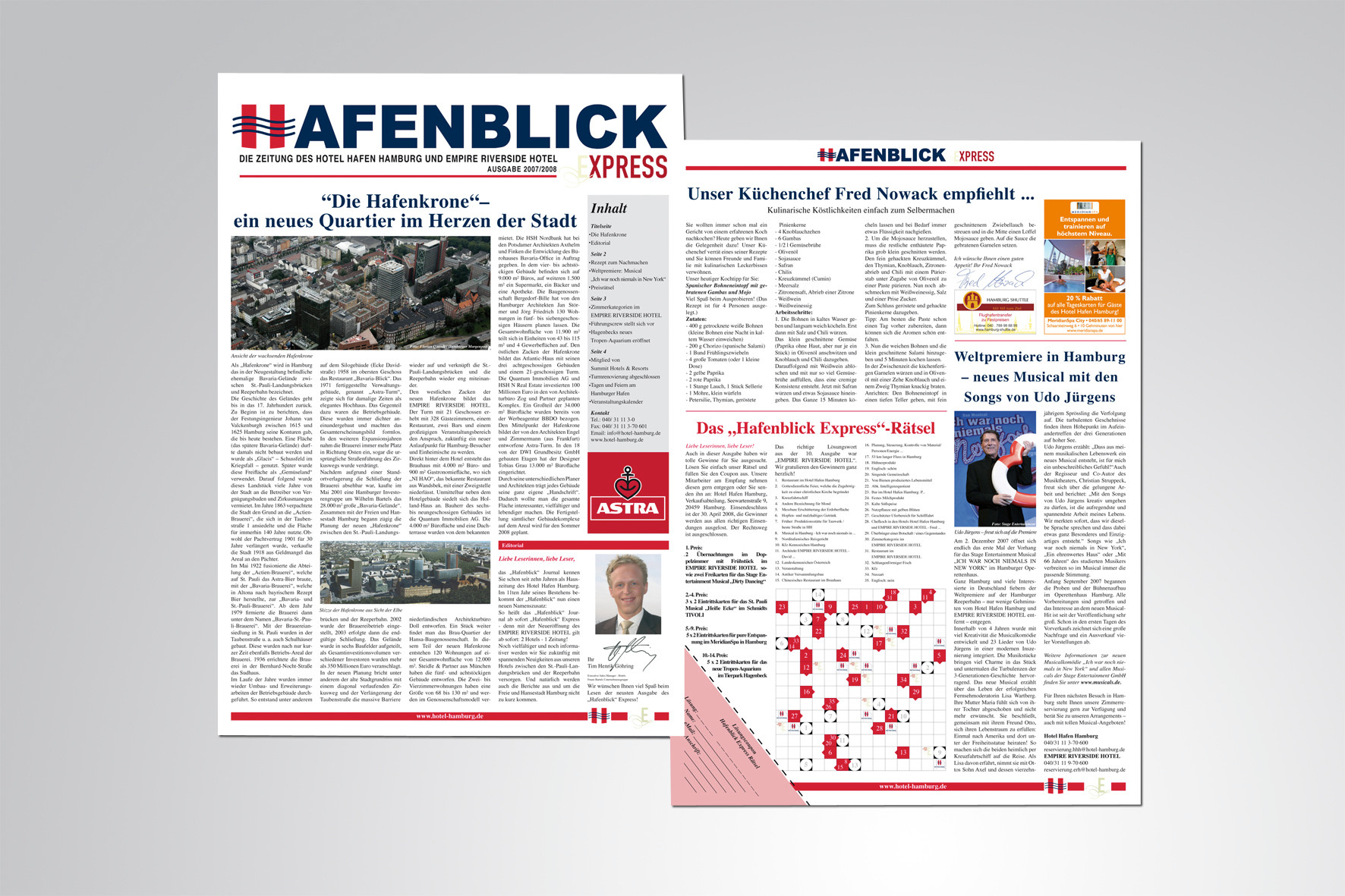 Kunde: Hamburger Hafen Hotel, Newsletter