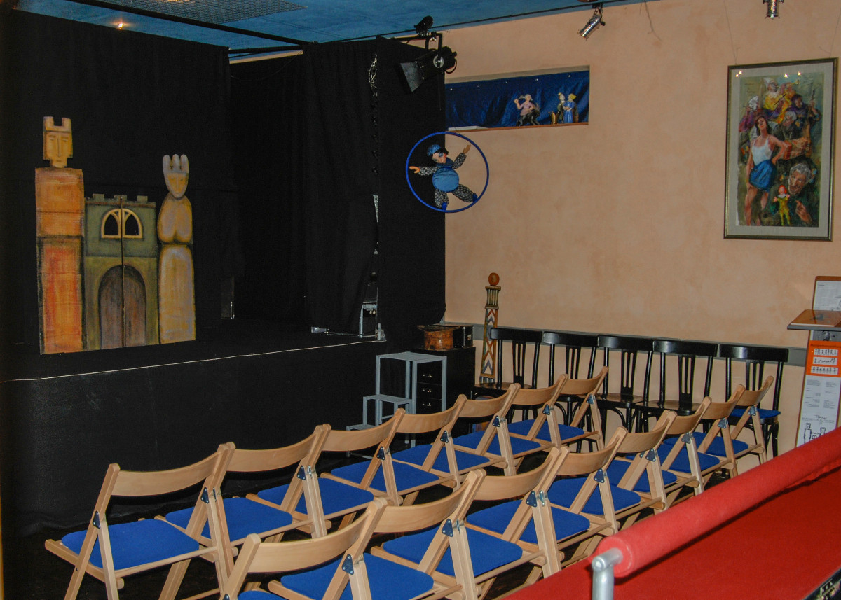 The little theatre holds about 40 spectators.  Special performances on request