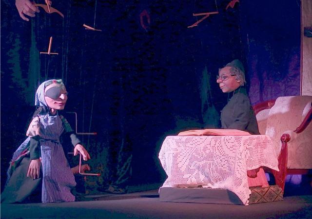 """""""Till Eulenspiegel , Teil 2"""" (Marionettentheater """"Eule und Meerkatze"""", Angelika Steveling und Ulrich Kordes, Essen)."""