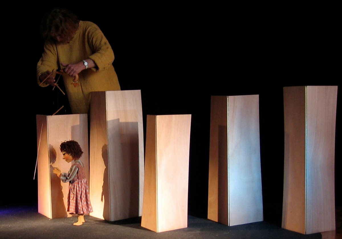 You will learn to work with light and shadow, since light is very important in puppetry.