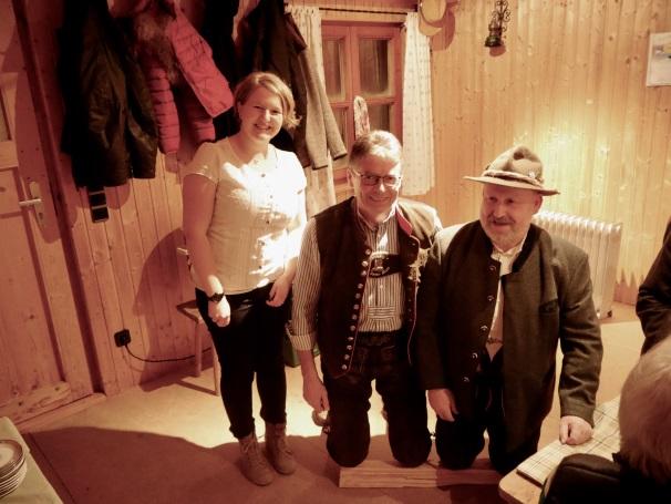 v.l. Jutta Hemm, Werner Huber, Franz Heizinger