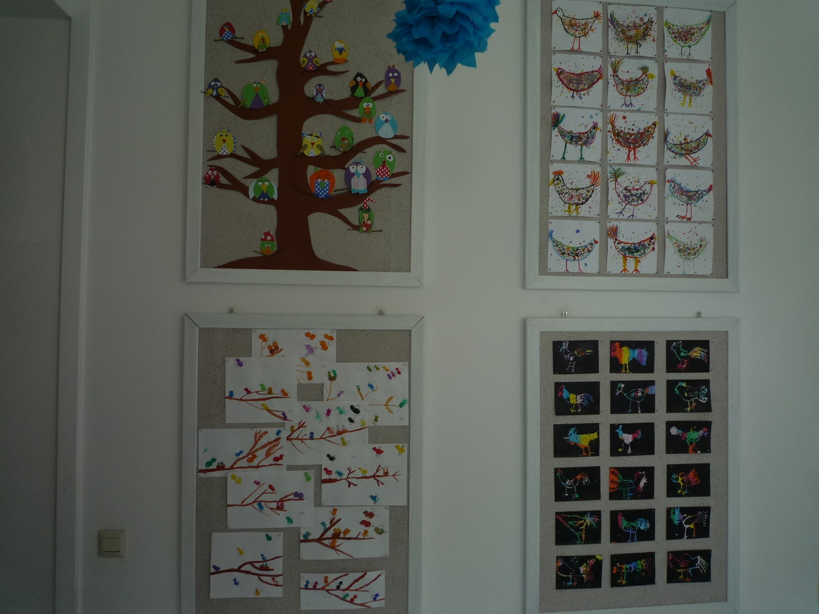 Jahrgangsübergreifendes Thema: Vögel in verschiedenen Technniken, alle Klassen