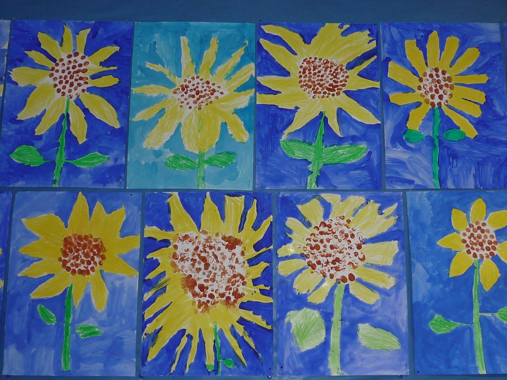 Sonnenblumen im Herbst, 1. Klasse