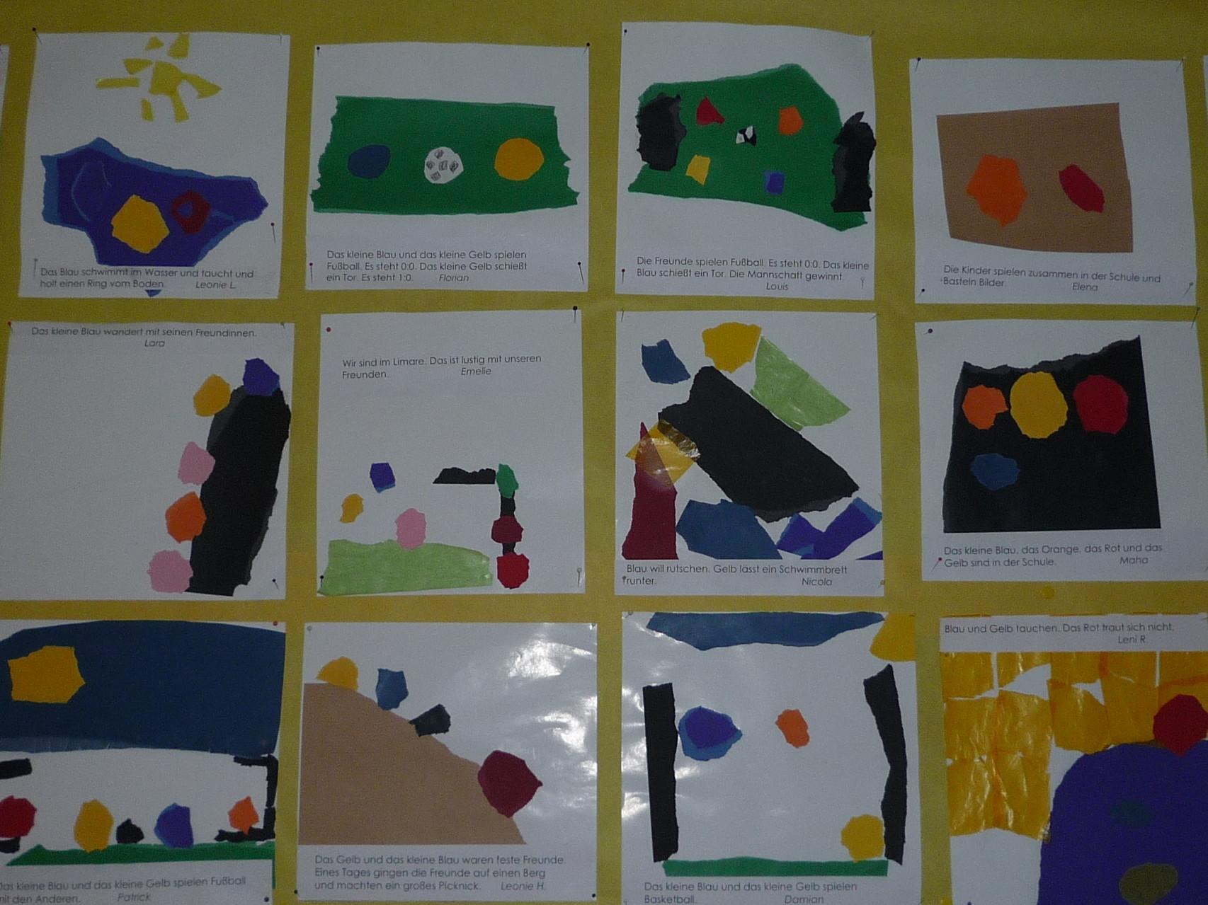 Eine Geschichte von Farben und Formen erfinden