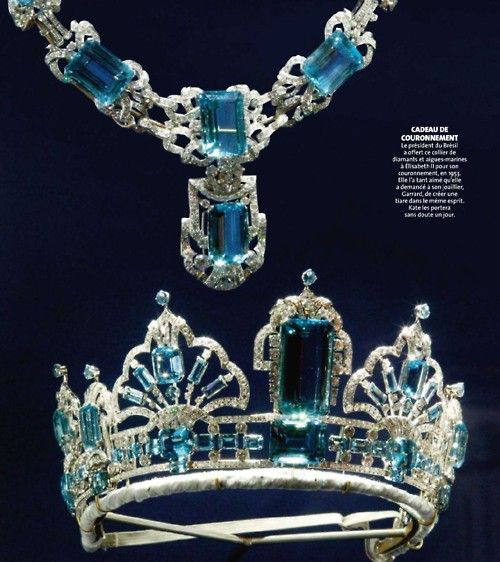 Queen's Brazilian tiara & necklace