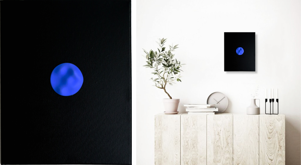 Nobahar-Design-Milano-Contemporary-3dPrinted-artwork-wallpanel-blue-fluidity-interiordesign