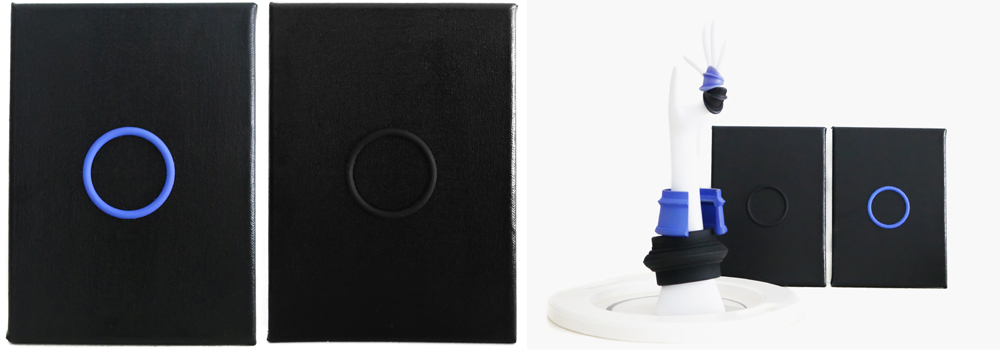 Nobahar-Design-Milano-Contemporary-3dPrinted-artwork-wallpanel-blue-circle-interiordesign
