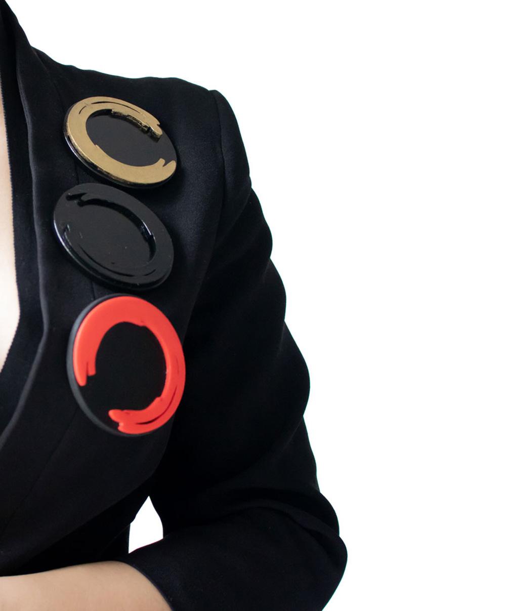 Nobahar Design Milano - contemporary design jewelry - My inner freedom - enso - brooch