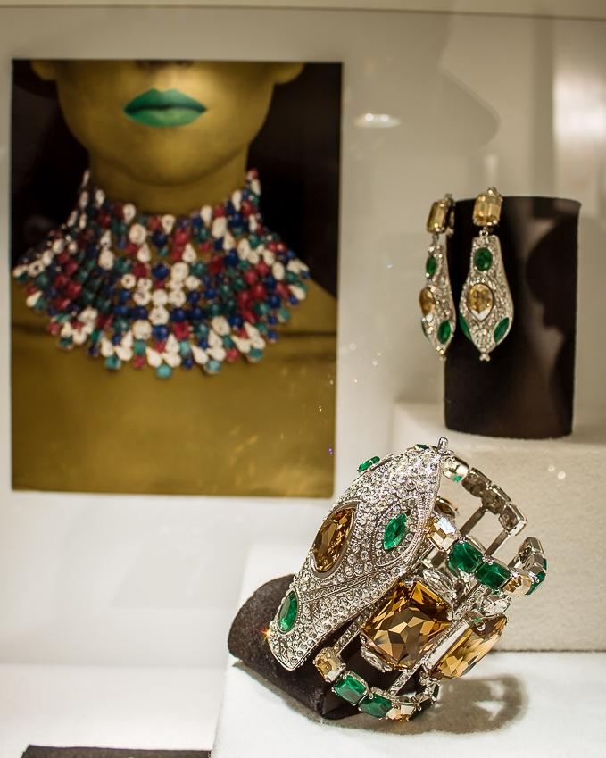 2000 - Snake Parur Rhodium metal Rhinestones Crystals