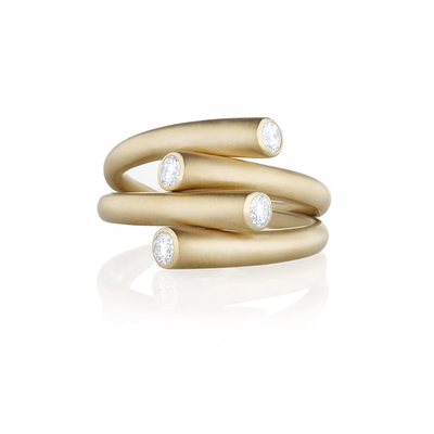 CARELLE Whirl duo ring