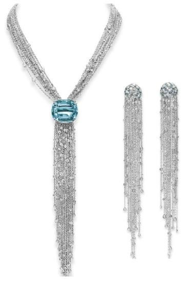 Aquamarine and diamond suite, Lynn Nakamura. Elizabeth Taylor collection