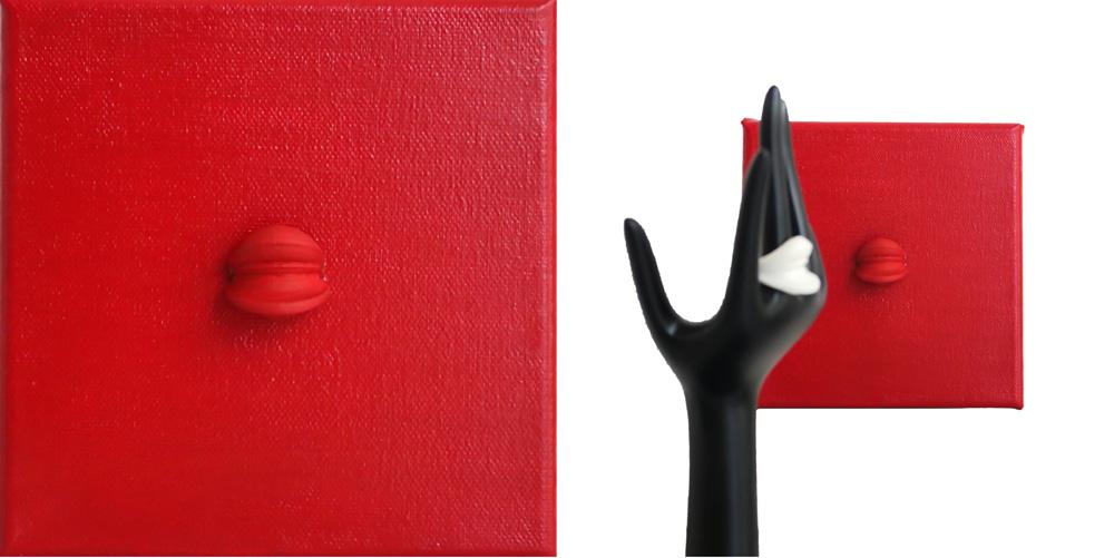 Nobahar-Design-Milano-Contemporary-3dPrinted-artwork-wallpanel-red-interiordesign