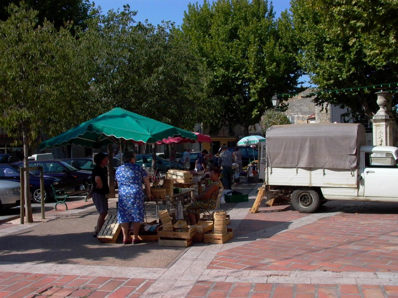 Markt in Sarrians