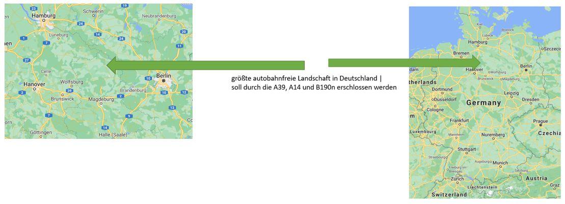 Größtes Autobahnfreies Gebiet in der Bundesrepublik: Dreieck zwischen Hamburg, Hannover und Berlin. Mittendrin: Altmark, Wendland, Prignitz.