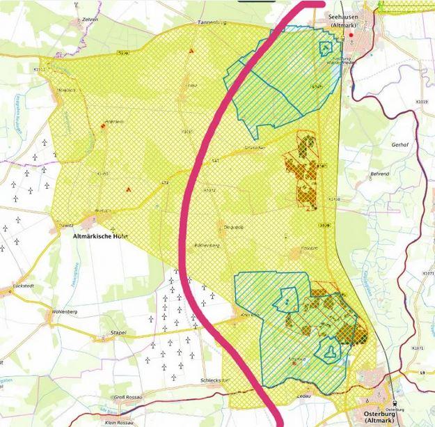 A14-Nordverlängerung, VKE (Verkehrsabschnitt) 2.2: Osterburg-Seehausen (Klagebereich unseres Bündnisses), c Projektinformationssystem zum Bundesverkehrswegeplan 2030