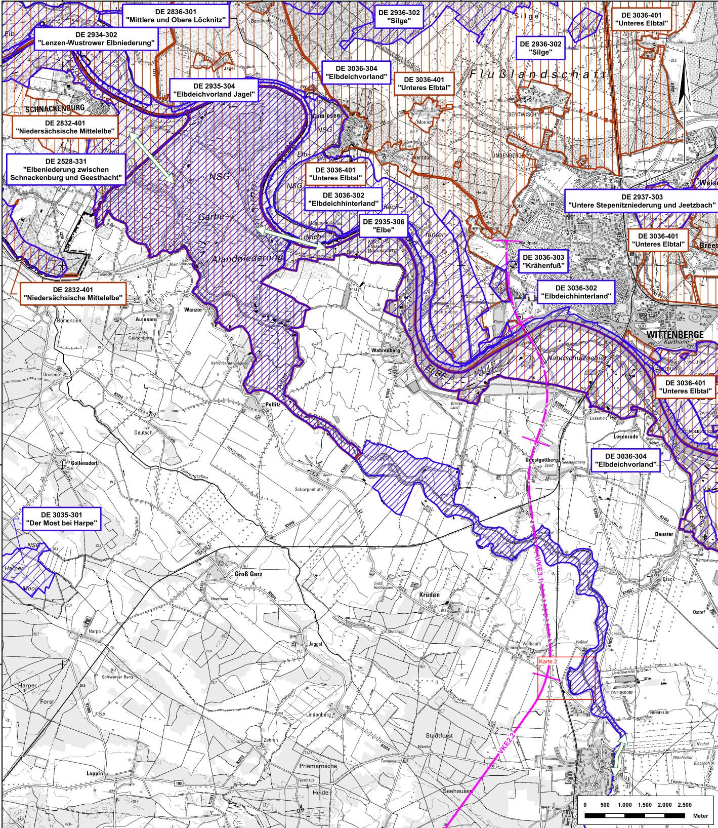 Verlauf A14-Lückenschluss [VKE 2.2], c Straßenbauverwaltung des Landes Sachsen-Anhalt, Landesstraßenbaubehörde, Regionalbereich Süd