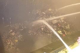 大阪市ごみ処理施設の火災発生