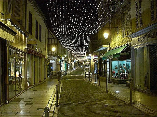 Illumination of streets during the Beaune Wine Auction