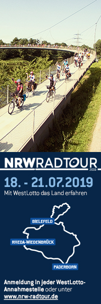 NRWRadtour 2019 durch den Teuto © KOM3