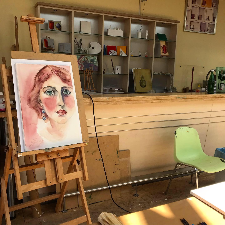 Megi Balzer, Aquarell auf dem Leinwand, Boesner Berlin Marienfelde