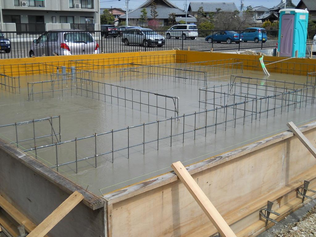 コンクリート打設完了①