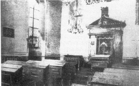 """Die ehemalige, in der """"Kristallnacht"""" zerstörte jüdische Synagoge in Bernkastel"""