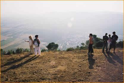 Blick auf Daburiya vom Berg Tabor