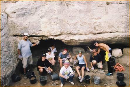 Die Mikwe, das rituelle Bad, wird freigelegt