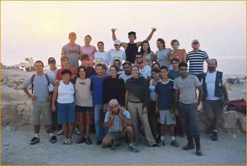 5.00 Uhr morgens, Sonnenaufgang auf Massada