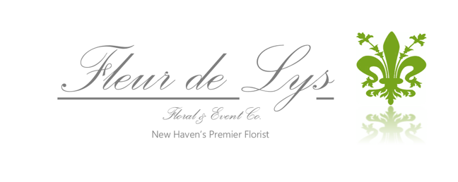 Letterhead created for Fleur de Lys floral shop.