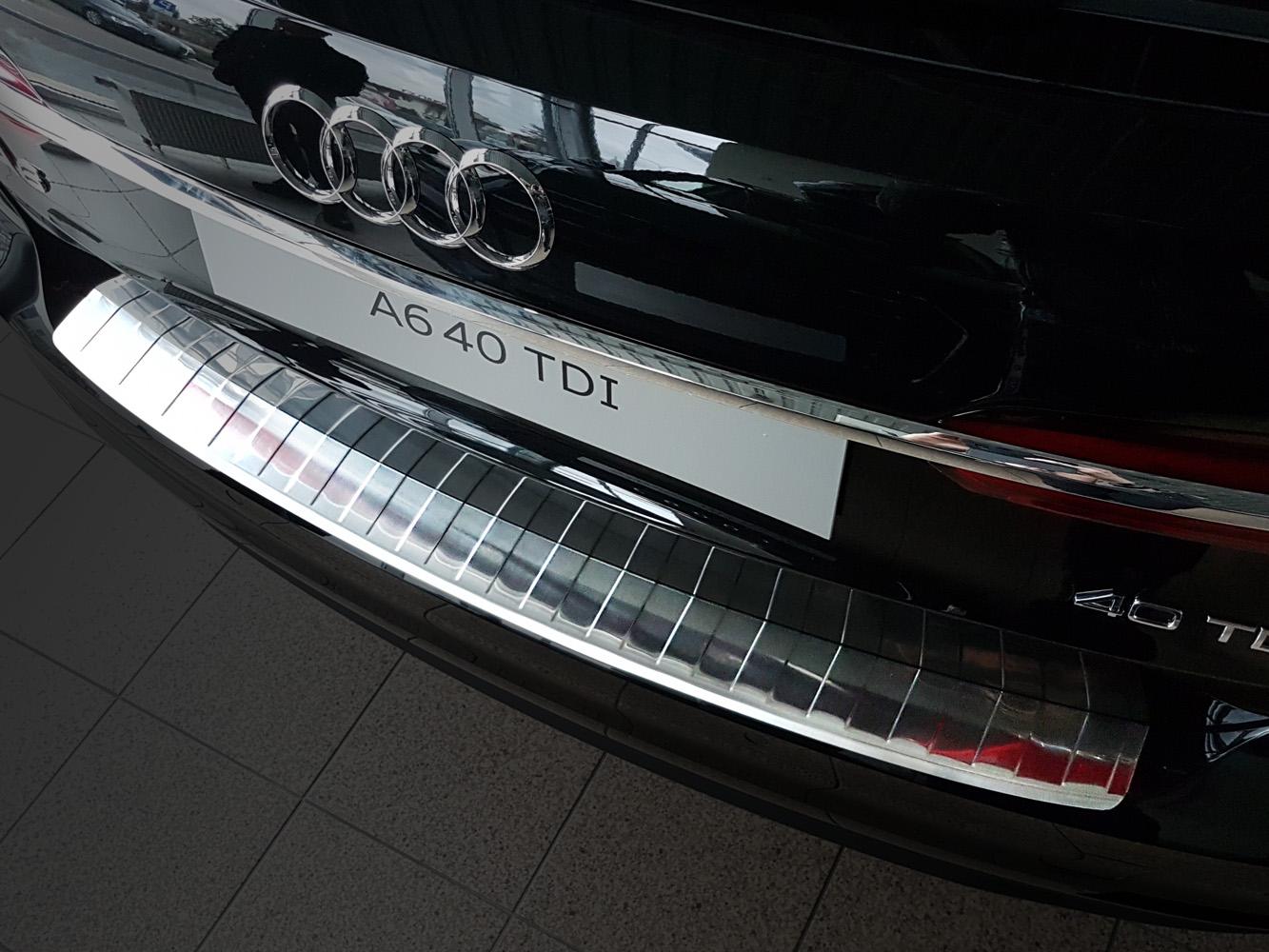 Für Audi A6 4F C6 Avant 05-11 Premium Edelstahl Ladekantenschutz Schutz Leiste