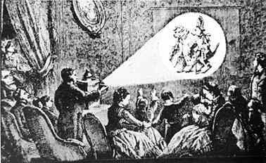 Vorführung mit einer Lateran Magica