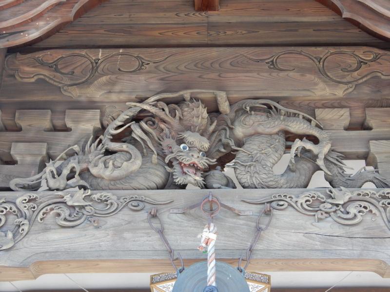 g21-3 向拝の龍の彫物