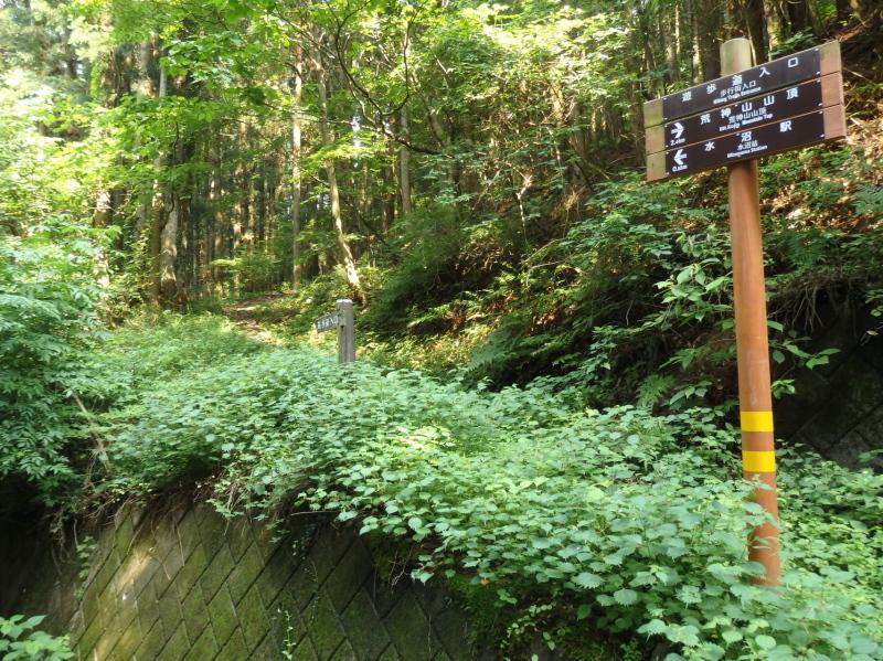 e31-1 奈良坂途中の街道痕跡(八木沢方面)
