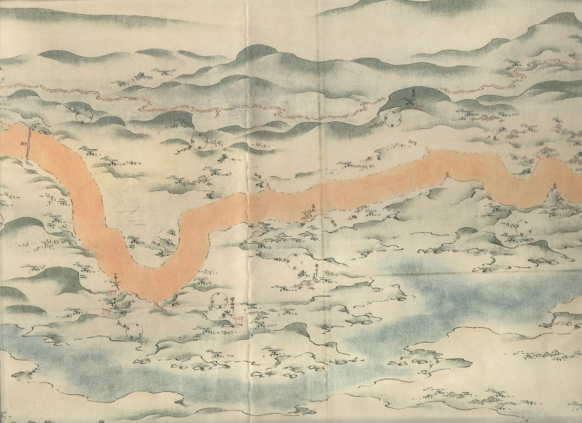 日光坂への登り口、道のカーブの具合がe14fの地図と一致する。