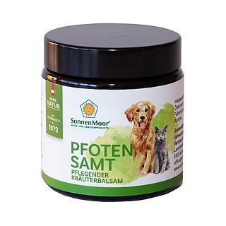 SonnenMoor Pfotenbalsam ist ein reines Naturprodukt aus original SonnenMoor Naturmoor, optimal abgestimmter Kräutermischung sowie Sheabutter und Palmfett aus kontrolliert, ökologischem Anbau