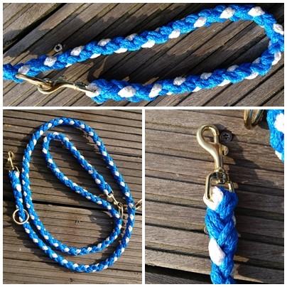 blau weiß lang