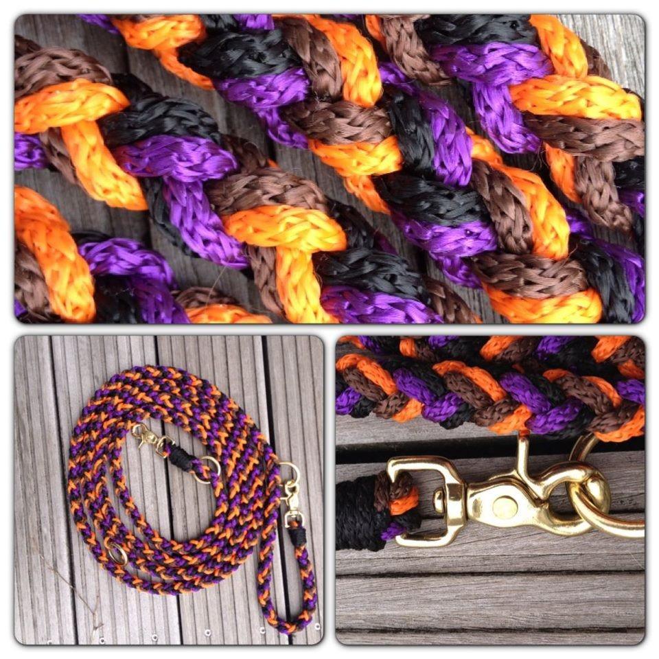 braun schwarz lila orange lang