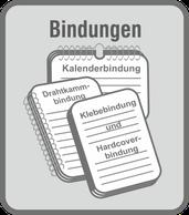 Im Druckladen Erlangen - bieten wir Ihnen verschiede Bindearten - Drahtkammbindung, Klebebindung und Hardcoverbindung, vom losen Blattwerk bis zur Abschlussarbeiten, wir bieten die richtig Bindung.