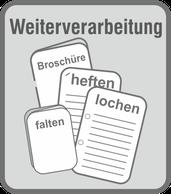 Im Druckladen Erlangen - bieten wir Ihnen Weiterverarbeitungsmöglichkeiten von der 2-fach und 4-fach lochung, klammen, Rückenstichheftung, Wickelfalz, Zickzackfalt, rillen, schneiden, ...